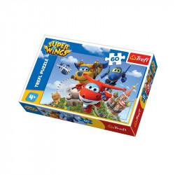 Trefl - Puzzle 60el. - Super Wings - Lot Dookoła Świata- 17307