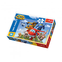 Trefl - Puzzle 60el. - Super Wings - Lot Dookoła Świata- 17307