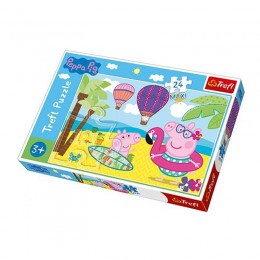 Trefl - Puzzle Maxi 24el. - Peppa na Wakacjach - 14293