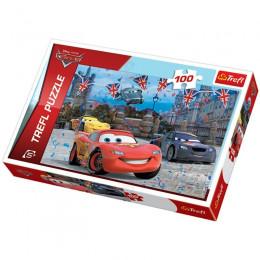 Puzzle - 100el. - Cars - Wyścig w Londynie - 16295