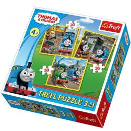 Trefl - Puzzle 3w1 - Tomek i Przyjaciele - 34821