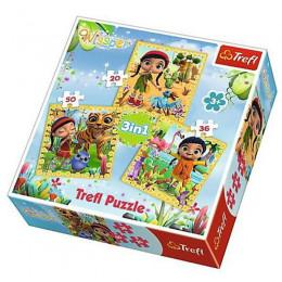 Trefl - Puzzle 3w1 - Wissper - Wspólne Podróże - 34834