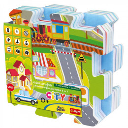 Trefl - Puzzle piankowe - Miasto - 60696