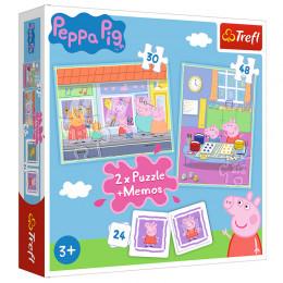 Trefl - Puzzle Świnka Peppa + Memos - 90600