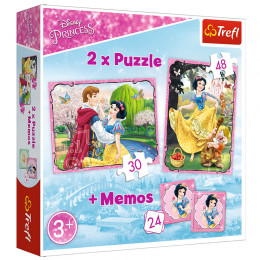 Trefl - Puzzle Królewna Śnieżka + Memos - 90603