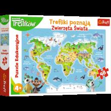 Trefl - Duopack – Nauka zwierząt świata + Puzzle - 90960