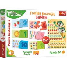 Trefl - Duopack – Nauka cyferek + Puzzle - 90961