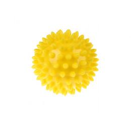 Tullo - Piłka rehabilitacyjna z kolcami 6,6cm- Jeżyk żółty 400