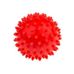 Tullo - Piłka sensoryczna 9cm - Czerwony jeżyk z kolcami 408