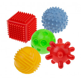 Tullo - Sensoryczne kształty - Zestaw piłek 5szt. - 458