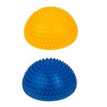 Tullo - Półkule sensoryczne do masażu 2 szt. Niebieski i Żółty - 460