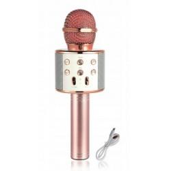 WSIER – Mikrofon bezprzewodowy z głośnikiem – Różowe złoto JYWK369