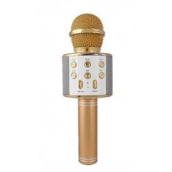 WSIER – Mikrofon bezprzewodowy z głośnikiem – Złoty JYWK369