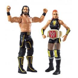 WWE Wrestling - Dwupak figurek – Seth Rollins i Becky Lynch - GLB33