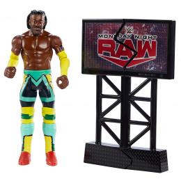 WWE Wrestling – Wrekkin – Figurka Kofi Kingston + rekwizyt GNK10