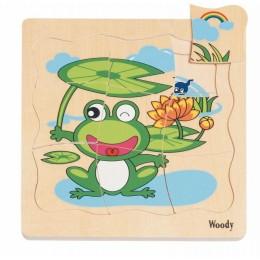 Woodyland 90078 Puzzle drewniane -  Narodziny Żabki