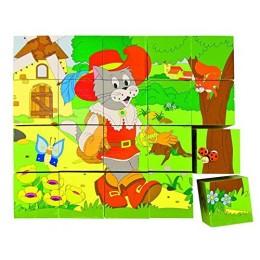 Woodyland 90247 Klocki drewniane -  Scenki z Bajek