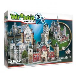 Wrebbit - Puzzle 3D - Zamek Neuschwanstein 890 el. - 02005