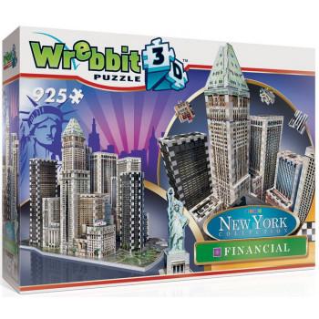 Puzzle 3D Wrebbit - Nowy Jork - Dzielnica finansowa 925el. 02013