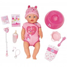 Zapf Baby Born - Lalka Bobas z akcesoriami - Soft Touch 824368