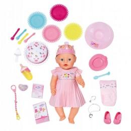 ZAPF CREATION Lalka BABY BORN Interaktywna - Zestaw urodzinowy 116717