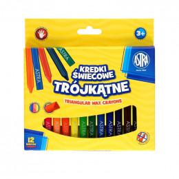 Astra - Kredki Świecowe Trójkątne 12 kolorów - 2893