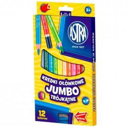 Astra - Kredki Ołówkowe Trójkątne Jumbo 12 kolorów - 0498