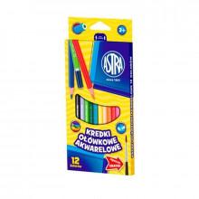 Astra - Kredki Ołówkowe Akwarelowe 12 kolorów - 0467