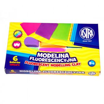 Astra - Modelina Fluorescencyjna 6 kolorów - 0032