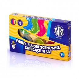 Astra - Farby Plakatowe Fluorescencyjne 6 kolorów - 3479