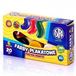 Astra - Farby Plakatowe 6 kolorów - 0058