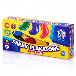Astra - Farby Plakatowe 8 kolorów - 0065