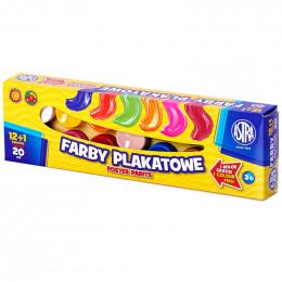 Astra - Farby plakatowe 13 kolorów - 7481