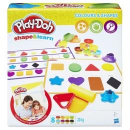 Ciastolina Play-Doh B3404 Modeluj i ucz się - Kolory i kształty