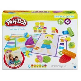 Ciastolina Play-Doh B3408 Modeluj i ucz się - Faktury i narzędzia