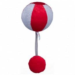 Balibazoo – Czerwono-szara piłka z piszczałką i grzechotką – 80304