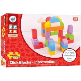BigJigs BB402 Klocki drewniane - Click Blocks