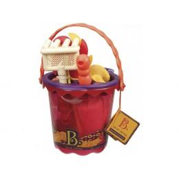 B.Toys -  Akcesoria plażowe - Czerwone wiaderko BX1331