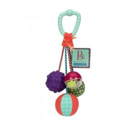 B.Toys - Gryzak z piłkami stymulującymi sensorycznie - BX1382