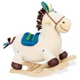 B.Toys BX1512 Pluszowy koń na biegunach
