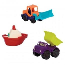 B. Toys BX1528 Zestaw zabawek do piasku - POJAZDY