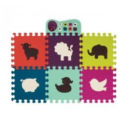B.Toys BX1532 Mata piankowa z dźwiękiem - Puzzle ze zwierzętami