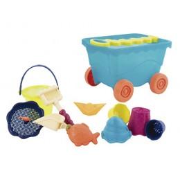 B.TOYS BX1596 Niebieski wózek z akcesoriami plażowymi