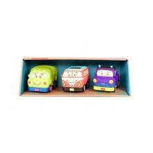 B.Toys - Trzypak miękkich samochodzików Wheeee-is - BX1658