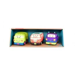 B.Toys BX1658 Trzypak miękkich samochodzików Wheeee-is