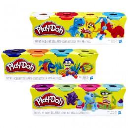 Ciastolina B5517 Play-Doh Zestaw 4 Tub - 3 rodzaje