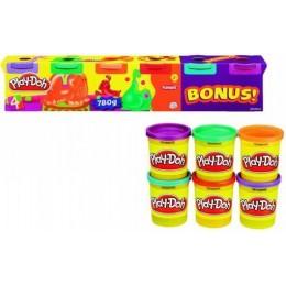 Ciastolina Play-Doh Zestaw 6 Tub 780g Kolory Neonowe 23566