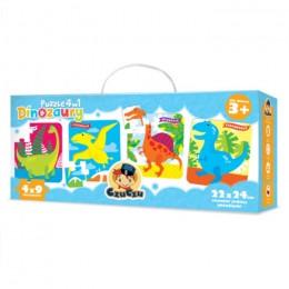 CzuCzu 5615111 Puzzle 4w1 - Dinozaury