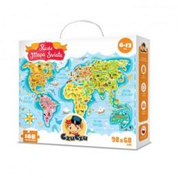 CzuCzu 5603029 Puzzle Podróżnika - Mapa Świata