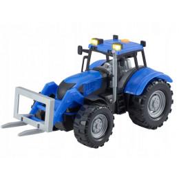 Dumel – Agro pojazdy – Niebieski traktor – podnośnik widłowy – 71001